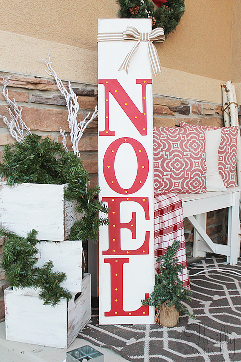 DecoArt Blog - Crafts - DIY Outdoor Light Up Noel Sign Pallet Christmas,  Christmas Porch - DecoArt Blog - Crafts - DIY Outdoor Light Up Noel Sign Christmas