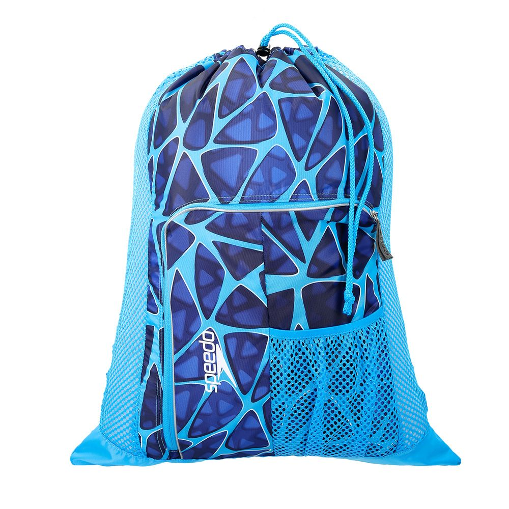 1c1f463e3b8a Speedo Deluxe Ventilator Mesh Bag in Cage Blue