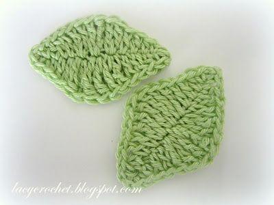Lacy Crochet Simple Leaf Crochet Pattern Flowers Hekl Pinterest