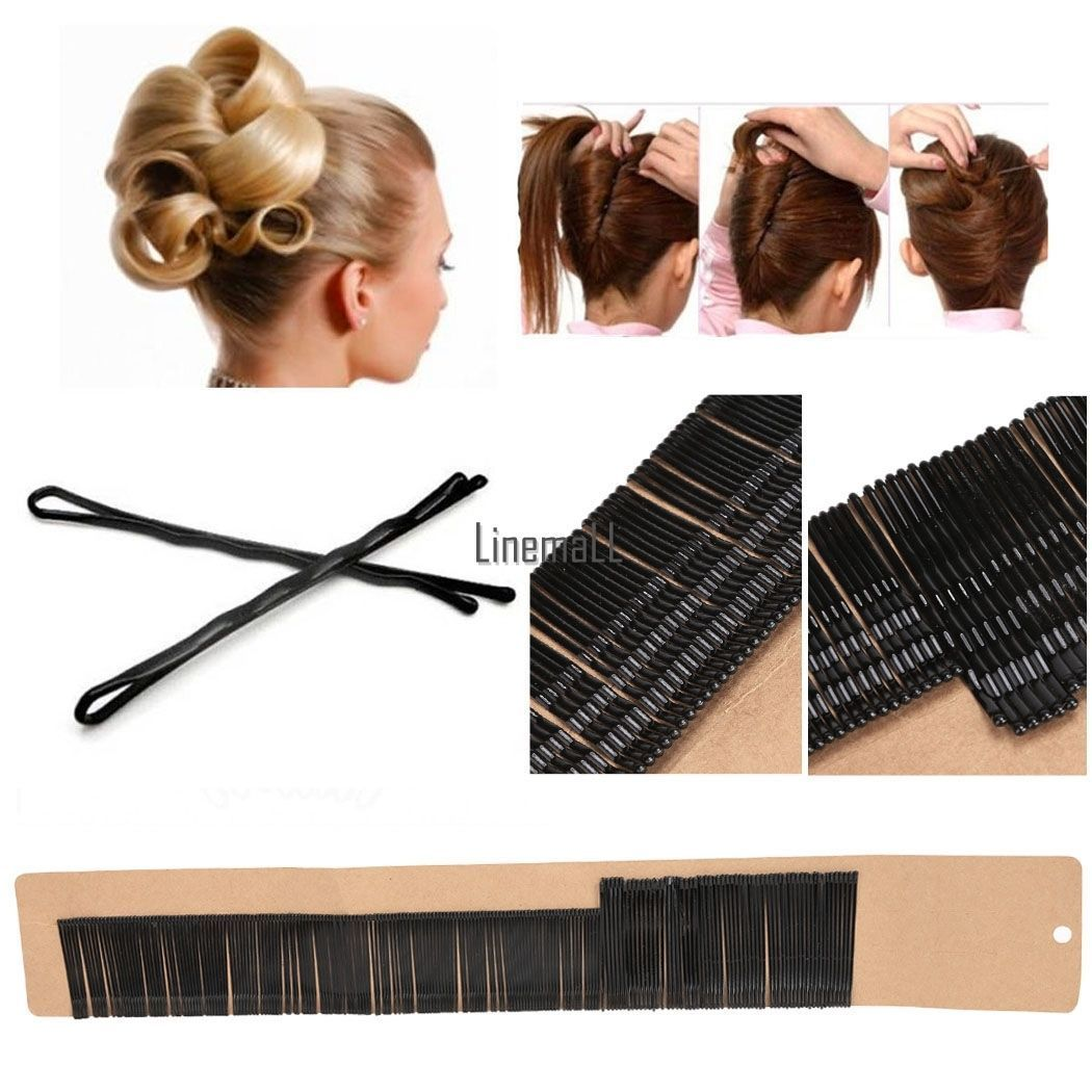 200 bobby kirby pins hair grips clips salon styling slides