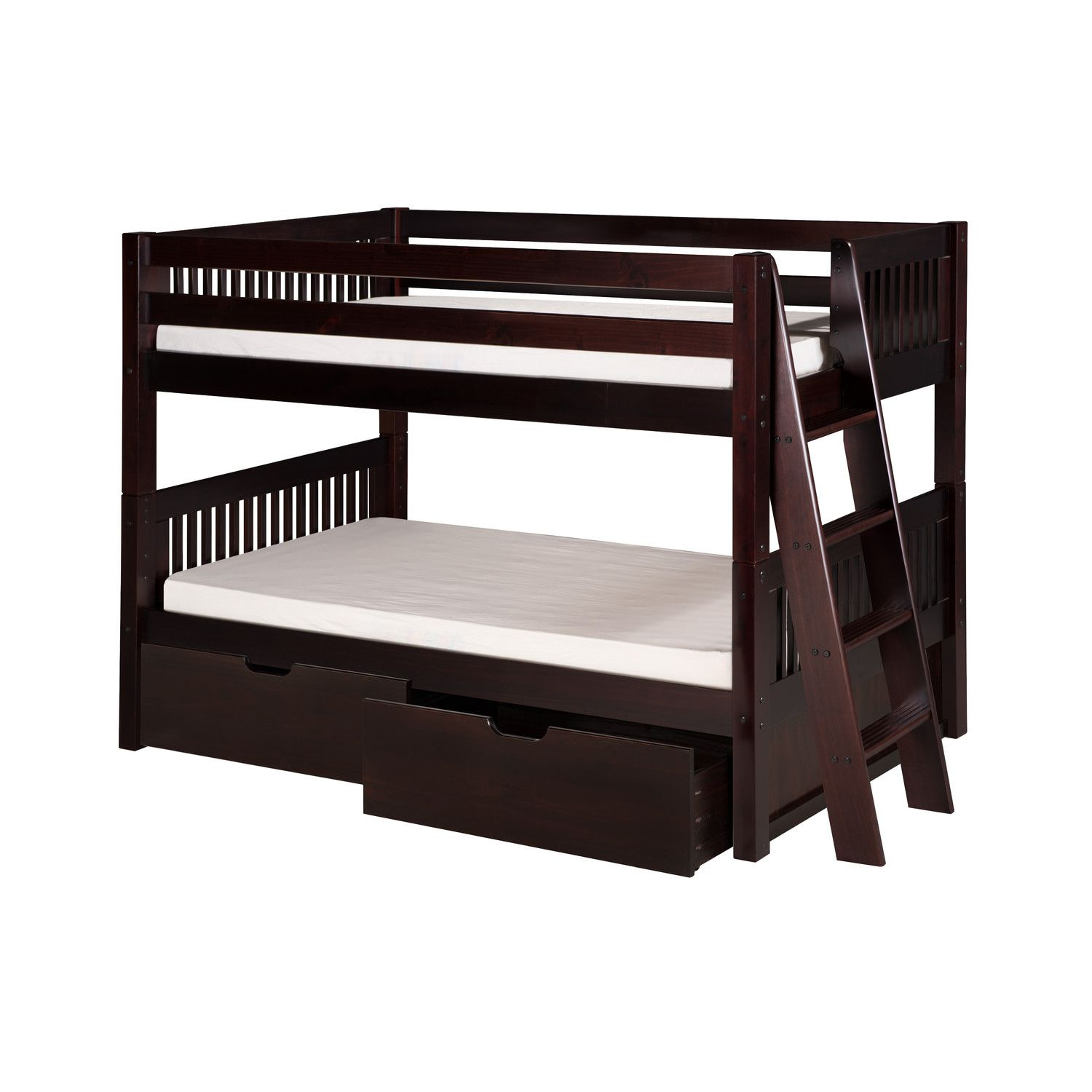 Twin loft bed craigslist  Camaflexi Low Bunk Bed with Lateral Angle Ladder and Drawers  Blast
