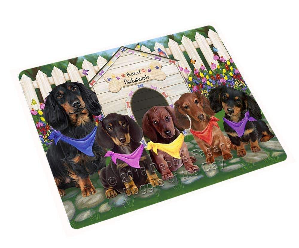 Spring Dog House Dachshunds Dog Magnet Mini 3 5 X 2 Mag53373