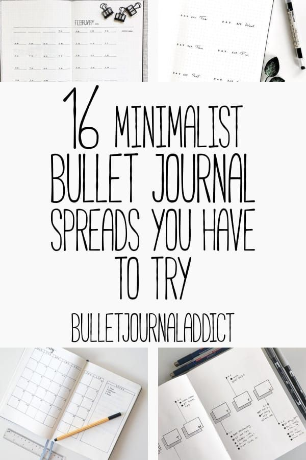 16 Minimalist Bullet Journal Spreads is part of Organization Printables Bullet Journal - If you are just starting out on your bullet journal journey you may be looking for a few easier designs  The last thing anyone likes doing is putting time into something that they aren't going to stick to using  I've put together a fantastic list of minimalist bullet journal pages to help you get started and get into the habit of using your bullet journal  [disclosure] A minimalist bullet journal spread usually just focuses on the tasks that need to be accomplished  There aren't fancy colors and the look can usually be accomplished with a ruler and a pen  TheRead More →