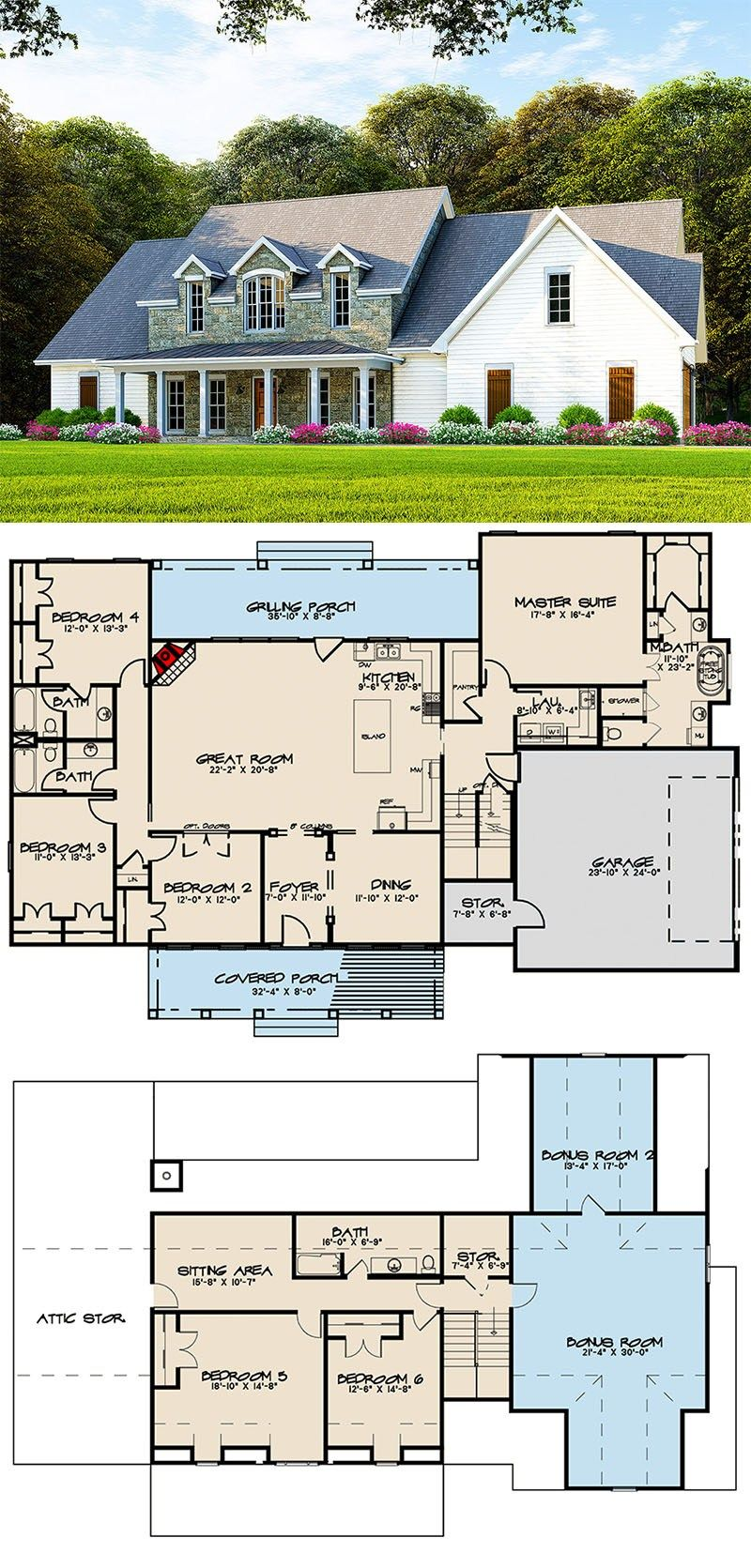 Plan 70604mk Traditional Farmhouse With Two Bonus Rooms Over Garage Pool House Plans House Plans Farmhouse Farmhouse Plans