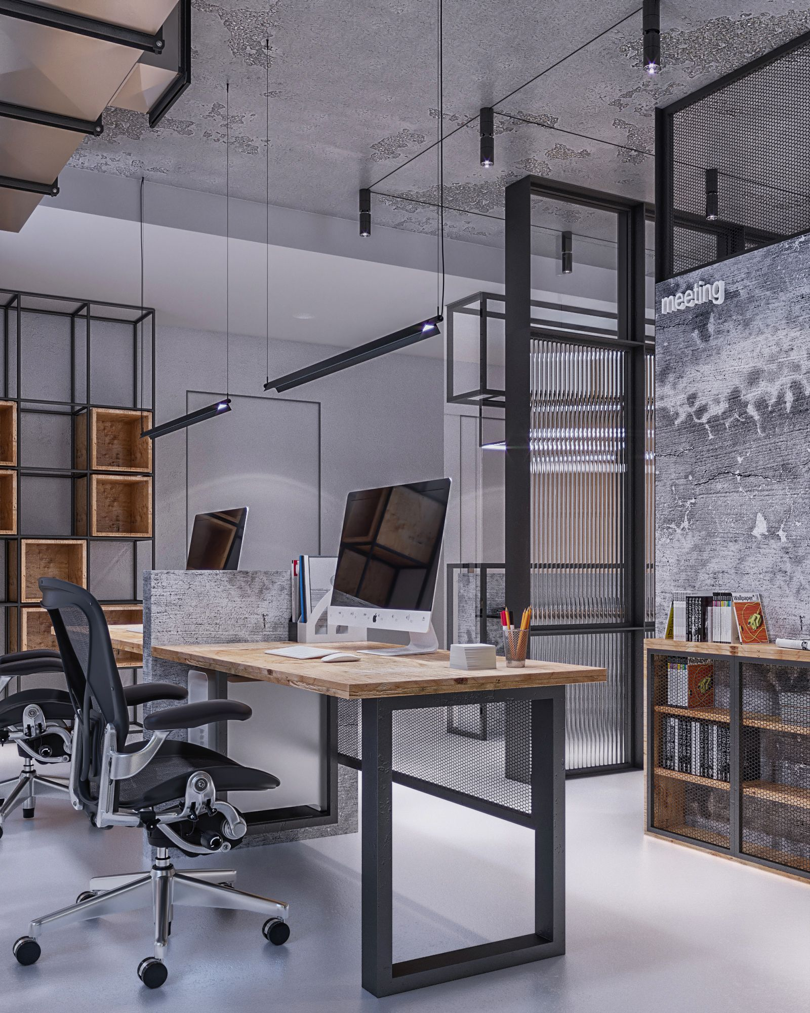 Industrial Study Room: Industrial Office Studio In 2019