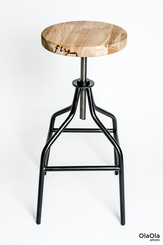 Handmade Industrial Swivel Bar Stool Perfect Minimalistic