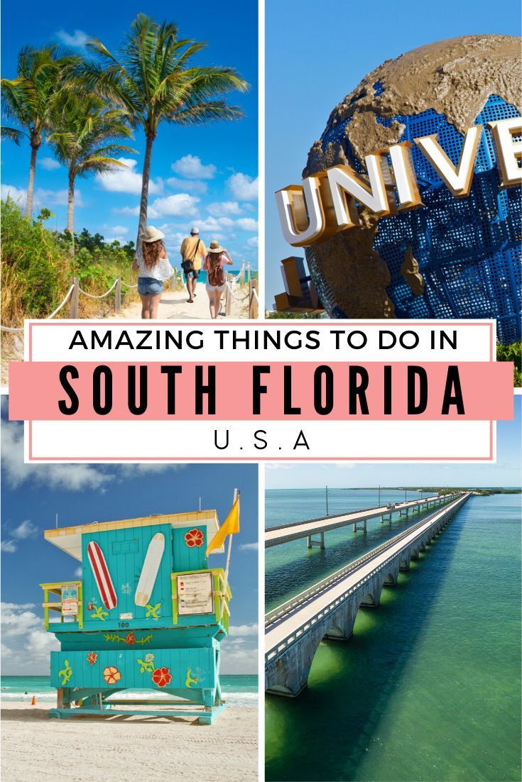 Discover the top things to do in South Florida: If visiting Florida for the first time then these places to visit in Florida are surely not to be missed. From the theme parks of Orlando to the stunning Florida Keys that lead to Key West and the USA's Southern most Point, there is an adventure for every family in South Florida #southflorida