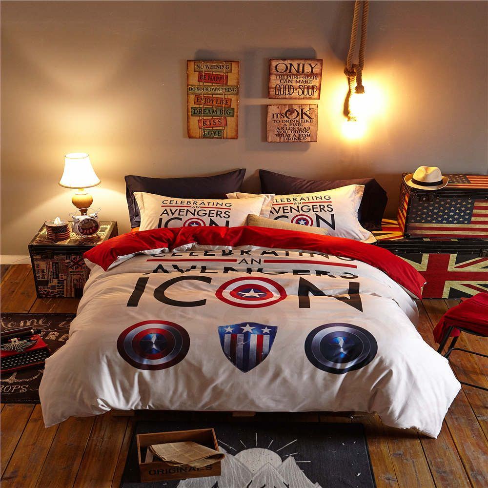 Captain America Icon 3D Printed Bedding Set Bedspreads