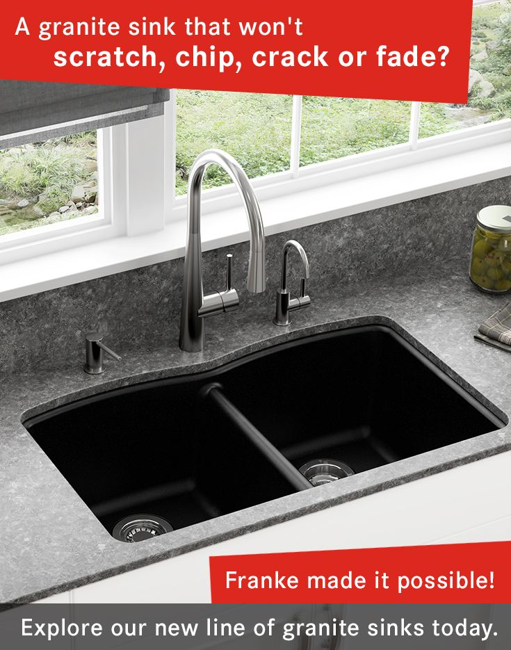 A Granite Sink That Won T Scratch Chip Or Fade Franke Made It Possible Explore Our New Line Of Sinks Today