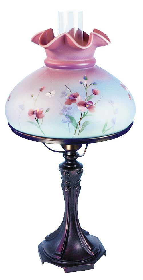 Fenton Blue Burmese Student Lamp Fenton Lamps Antique