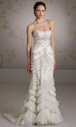 Lazaro Gowns At Kleinfeld Bridal In New York Peach Wedding Dress