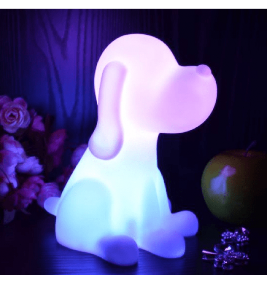 lampe de chevet chien led sans fil rechargeable multicouleurs d co enfant pinterest chevet. Black Bedroom Furniture Sets. Home Design Ideas