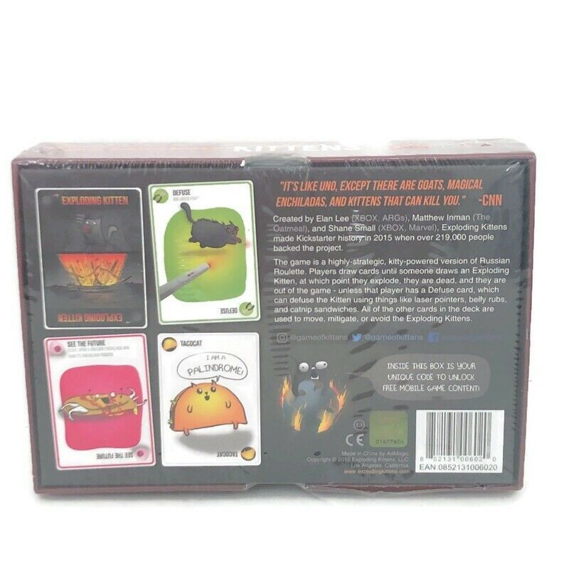 Exploding kittens card game new sealed ages 7 multiplayer