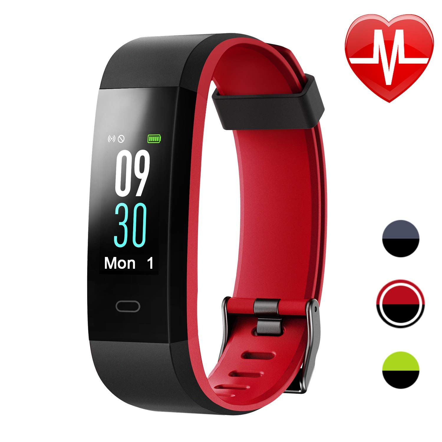 Letsfit Fitness Tracker With Heart Rate Monitor Color Screen Smart Watch With Sleep Monitor Step Count In 2020 Fitness Tracker Pedometer Watch Activity Tracker Watch