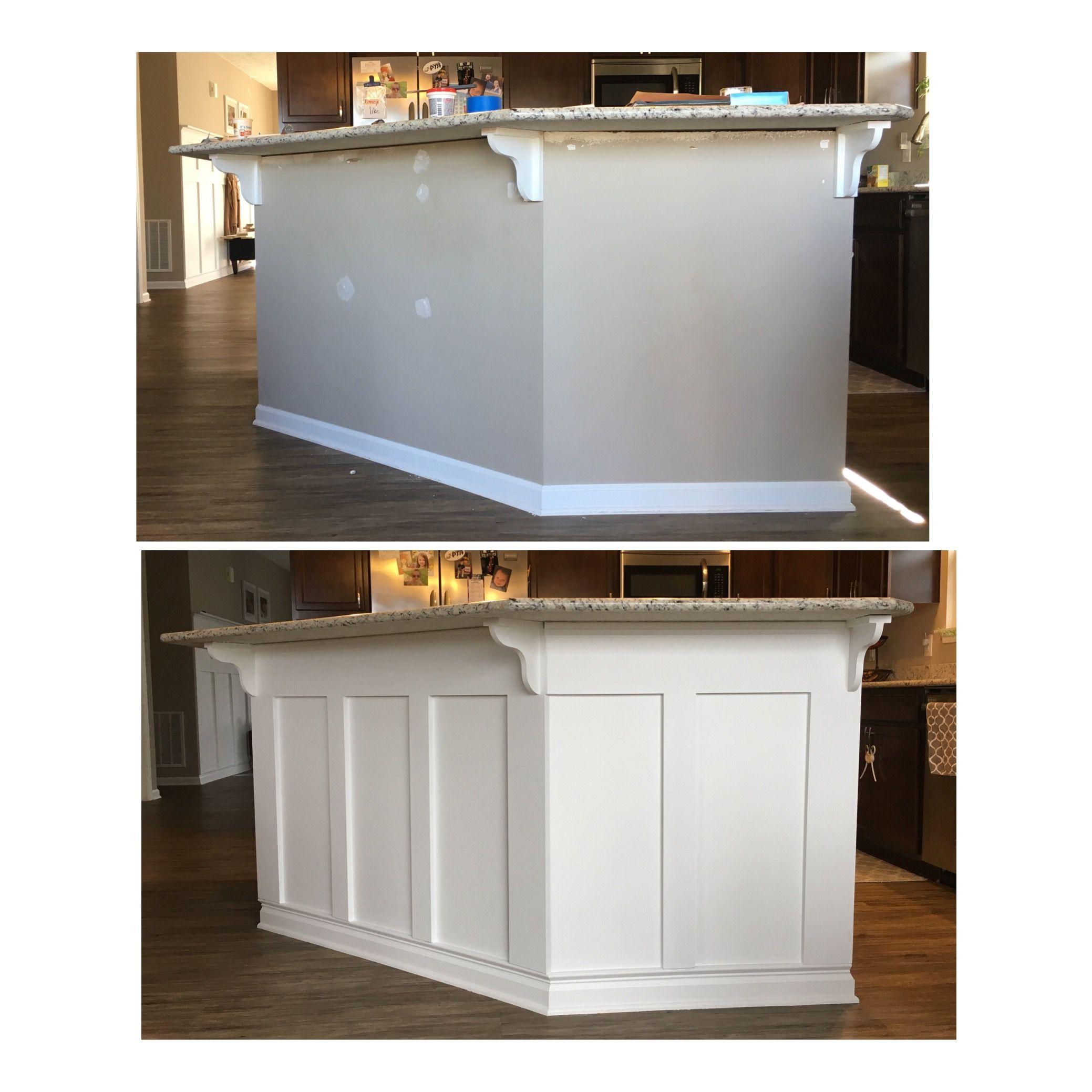Diy Board And Batten Kitchen Island Kitchen Island Makeover Updating House Home Remodeling Update kitchen island ideas