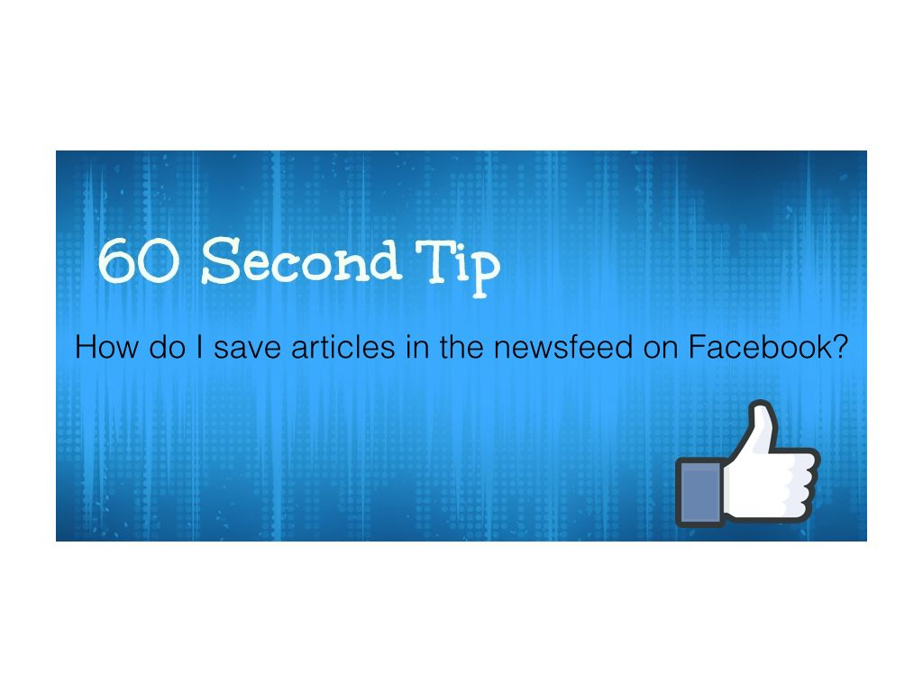 How do I save a newsfeed post in Facebook?