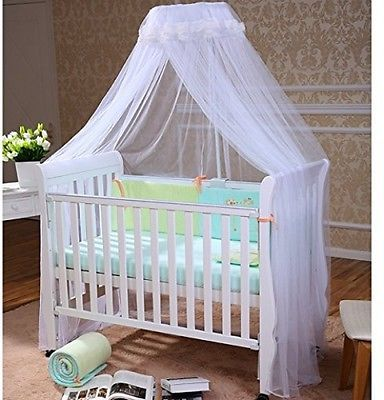 Foxnovo Baby Mosquito Net Baby Toddler Bed Crib Canopy Netting White Crib Canopy Baby Crib Canopy Baby Canopy