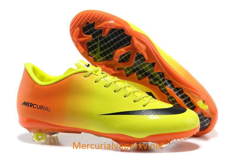 Nike Mercurial Vapor IX AG Cleats Orange Yellow  3129901