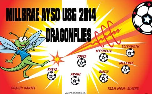 Dragonflies 41340 Digitally Printed Vinyl Soccer Sports Team Banner Made In The Usa And Shipped Fast By Bannersusa Sports Team Banners Bannersusa Sport Banner