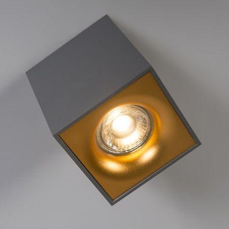 Great Spot Quba deluxe grau mit Gold spot strahler deckenstrahler deckenleuchte innenbeleuchtung