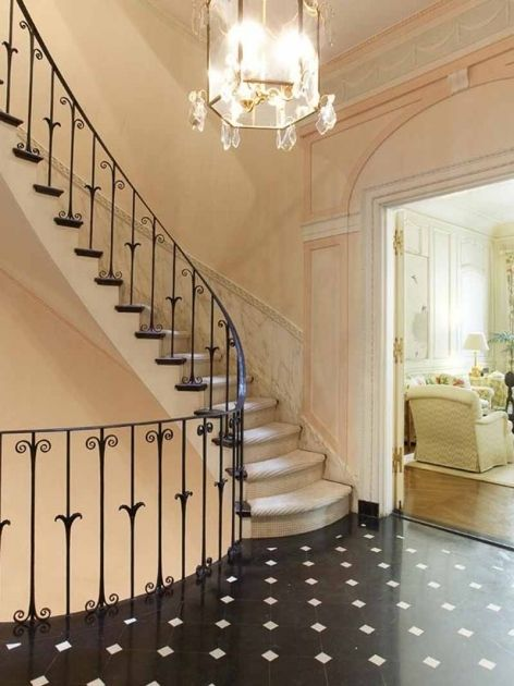 Awesome Furniture: 31 Magnificent Staircase Design For Homes, Pretty Spiral  Staircase With Dressy Railing Carving In Classy Room Interior Design Wit.