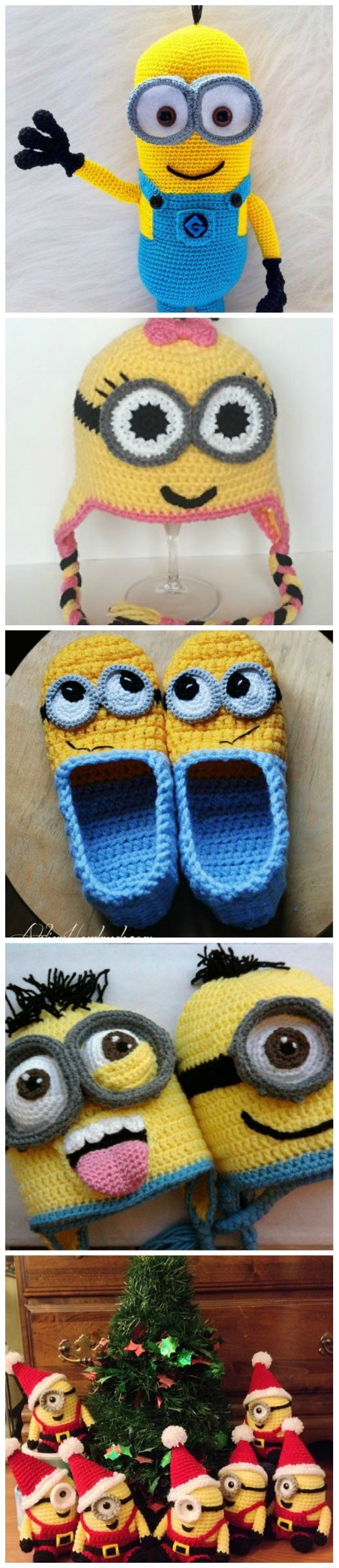 Minion Crochet Patterns | Crocheting III | Pinterest | Häkeln, Mütze ...