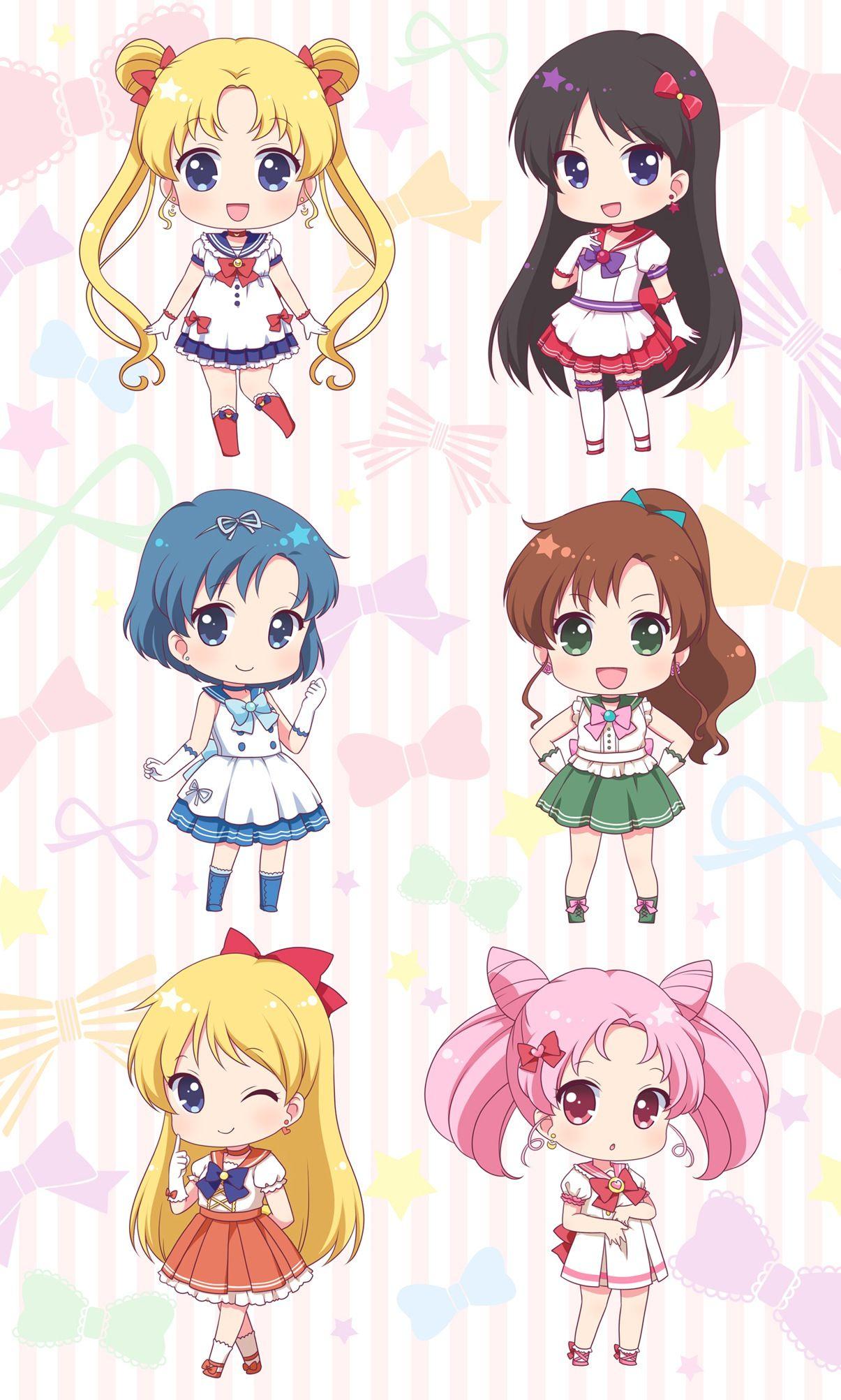 The Sailor Scouts Sailor Moon Sailor Mars Sailor Mercury Sailor Jupiter Sailor Venus Chibi Sailor Moon Fan Art Sailor Moon Crystal Sailor Moon Wallpaper