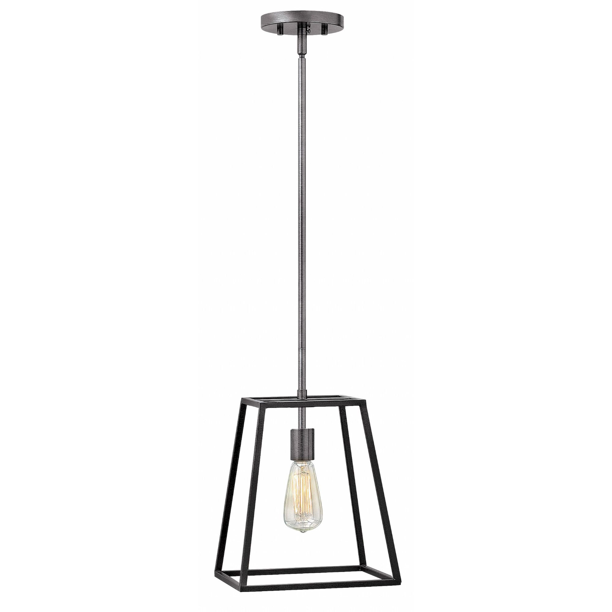 The Fulton 1 Light Pendant Features A Bronze Or Aged Zinc