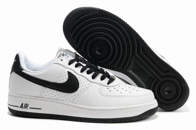 black and white nike air force