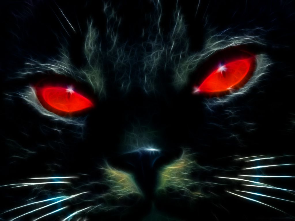 Black Cat With Pink Scary Eyes: Black Cat Fractalius By ~ChrisHateZ On DeviantART
