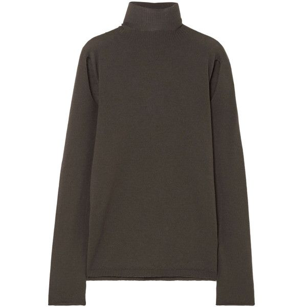 Cutout Wool Turtleneck Sweater - Dark gray Rick Owens Official Site Outlet Fashionable Best Prices Cheap Price Discount With Mastercard Discount Shop ReHuXCqjU