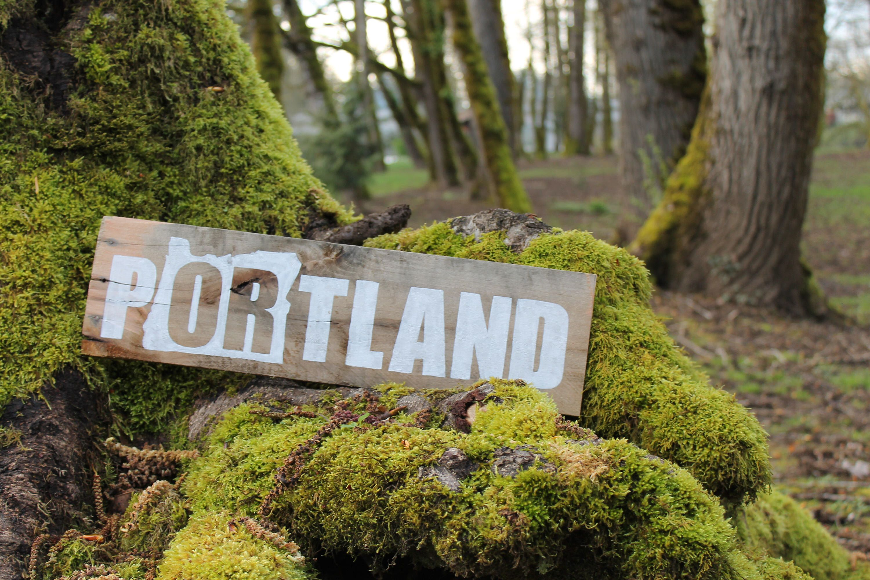 Portland Oregon Rustic Wood Sign, Reclaimed Wood Art, Oregon Home Decor, Portland  Oregon