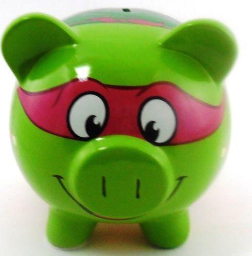 Teenage Mutant Ninja Turtles Piggy Bank Raphael Ceramic Tmnt Room