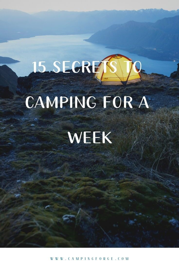 Photo of 15 Secrets To Camping For A Week In 2020
