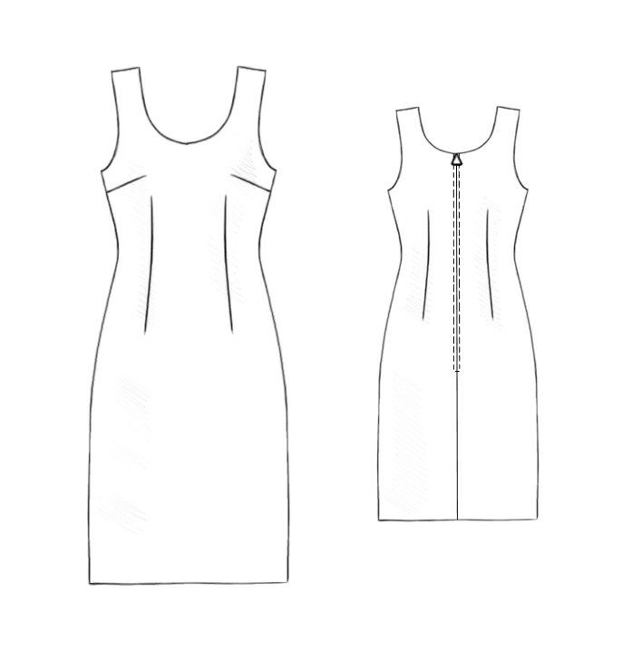 Dress - Sewing Pattern #5202 Made-to-measure sewing pattern from ...