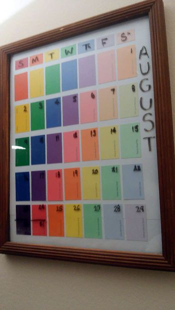 Paint Sample Calendar  Paint Sample Calendar Craft And Paint Chips