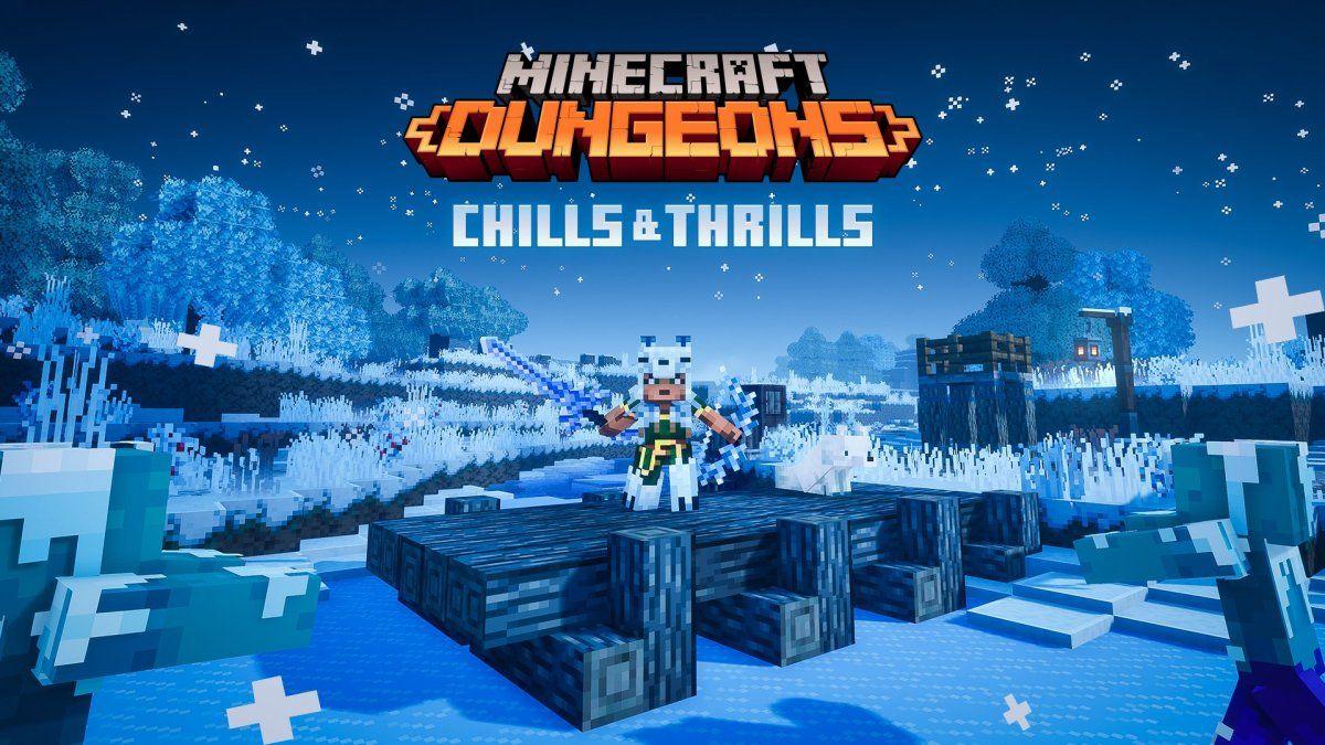 Minecraft Dungeons Winter Seasonal Trials Nintendo Switch Nieuws Nintendoreporters Minecraft Dungeon Minecraft Posters