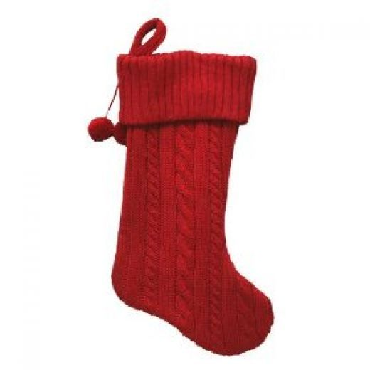 Red Christmas Stockings | Knitted christmas stocking patterns ...
