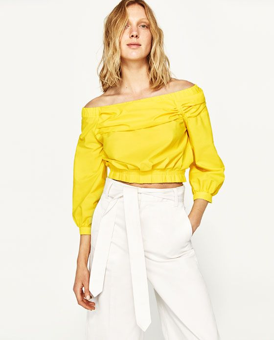 5ca6b039725e1 Image 5 of OFF-THE-SHOULDER BLOUSE from Zara