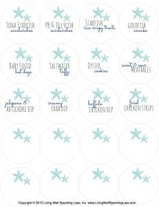 photograph about Free Printable Food Labels for Party called Cost-free Mermaid Printables for Little ones Seaside Birthday Birthdays