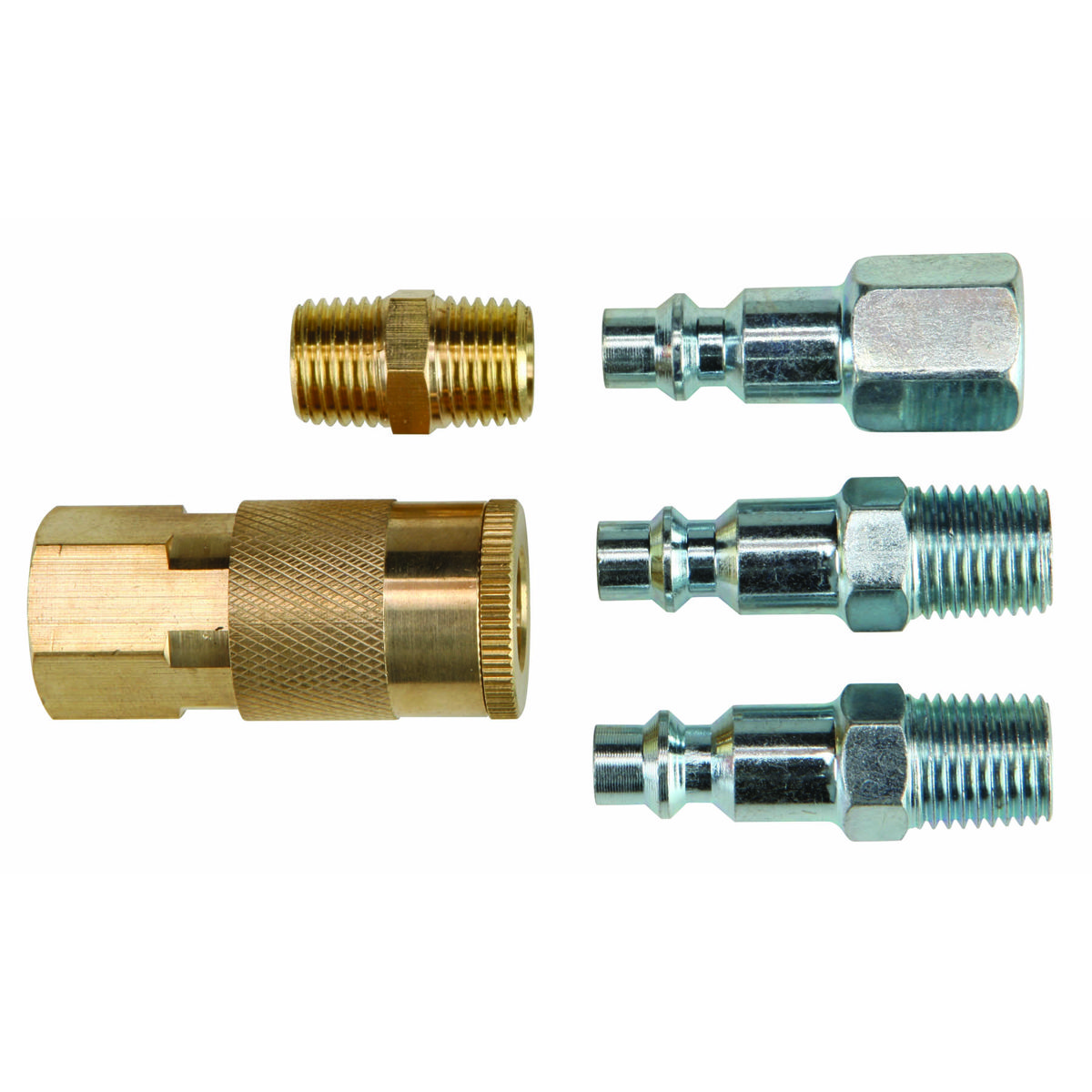 5 Piece Industrial Quick Coupler Compressor Starter Kit
