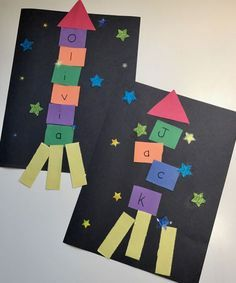 Photo of Outer Space Crafts: Alphabet Spaceship Craft • The Inspired Home