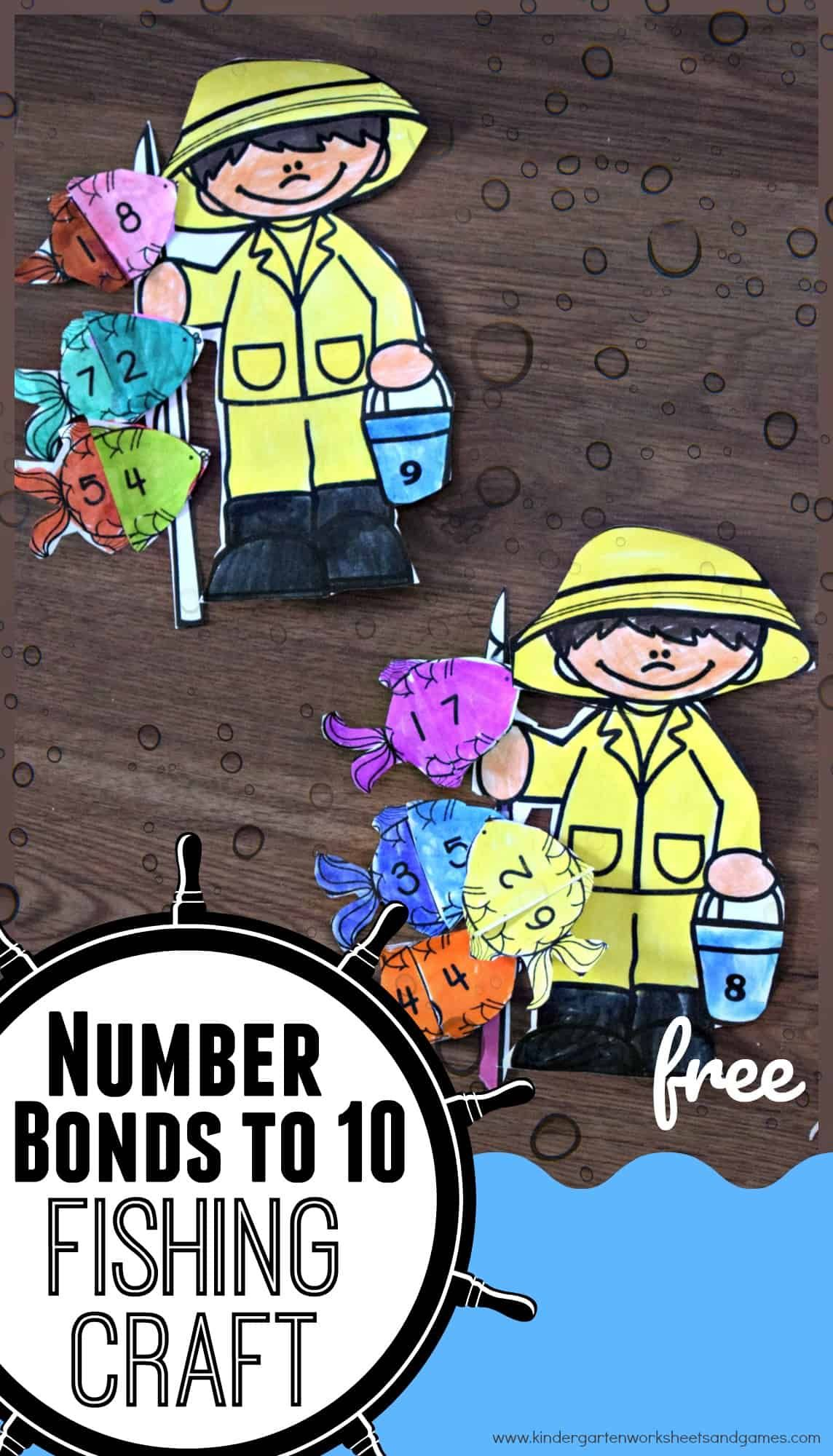 Free Number Bonds To 10 Fishing Craft