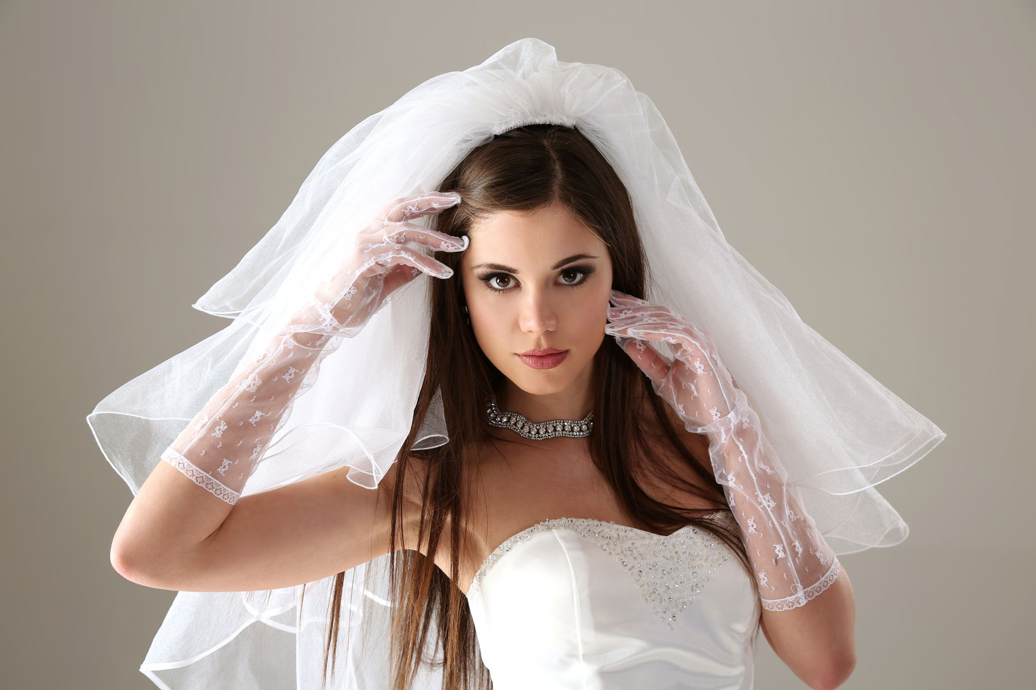 Little Caprice is wearing a wedding dress. Who did she marry? Find