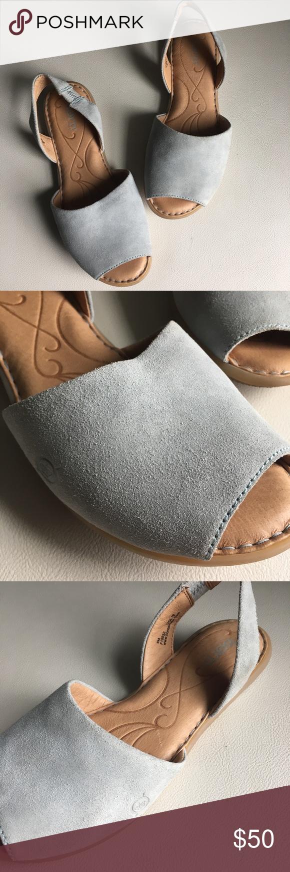 Peep toe sandals, Genuine suede