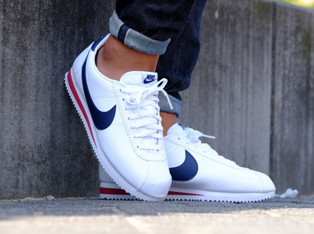 Nike Cortez Leather 'USA' White Navy Red