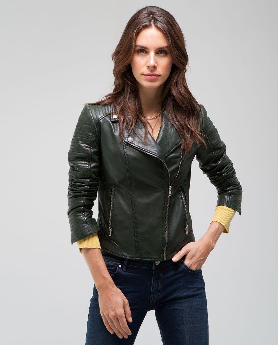Boutique en ligne 6a6f5 95c38 Cazadora de piel mujer. Estilo 'PERFECTO'. Nueva colección ...