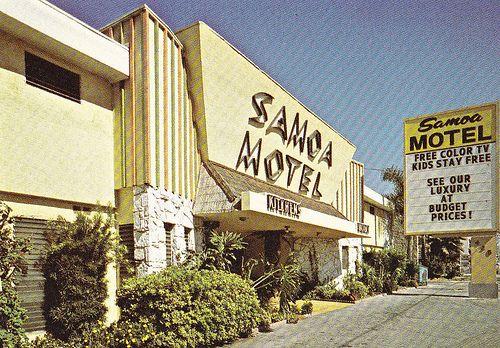 Samoa Motel Anaheim 1960s 425 W Katella In Ca