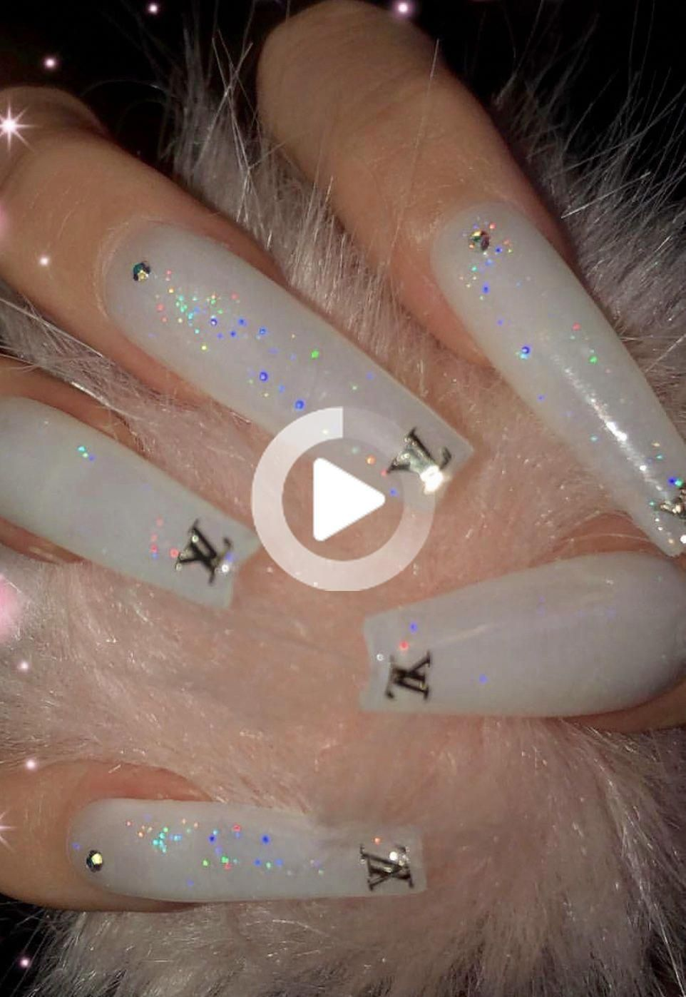 Ka La Kiss Lilacnails In 2020 Acrylic Nails Coffin Glitter Long Acrylic Nails Coffin Best Acrylic Nails
