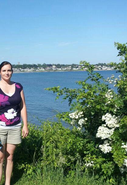 Beach from Cliff Walk - Newport, Rhode Island
